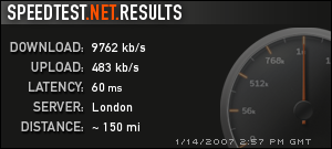 James Woodcock's Speed Test Results