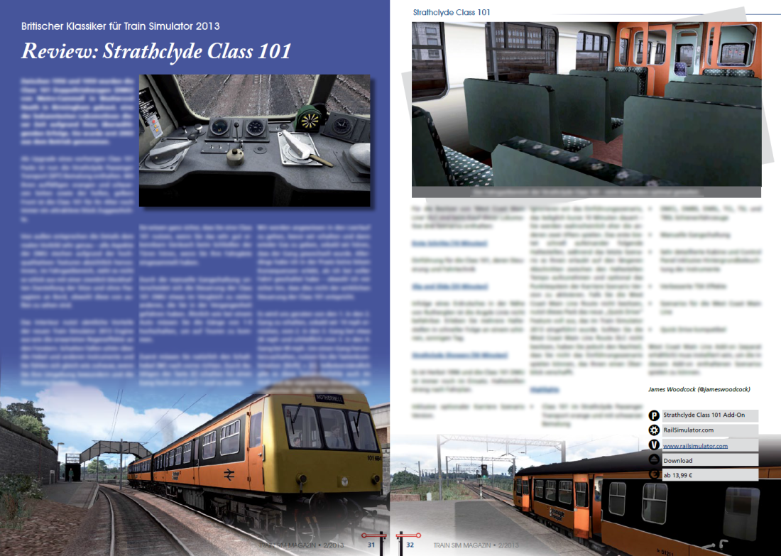 Strathclyde Class 101 Review featured in Train Sim Magazin
