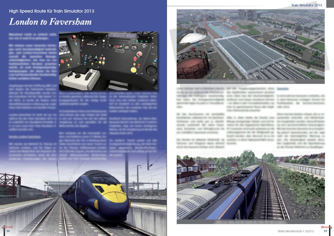 London to Faversham Review featured in Train Sim Magazin