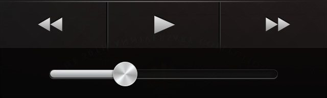iOS music player playback controls