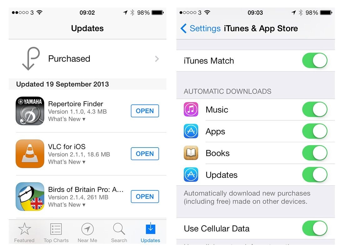 iOS 7 App Automatic Updates