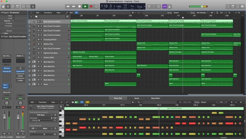 Logic Pro X original track Imagination by James Woodcock