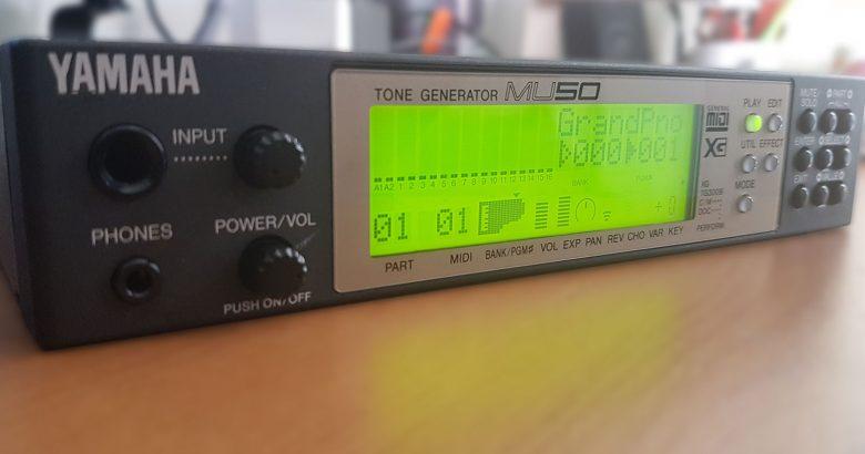 Yamaha MU50 Tone Generator – XG MIDI Lives On
